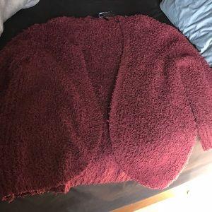 Oversized fuzzy cardigan